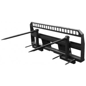 Double Adjustable Bale Spear Skid Steer Attachments
