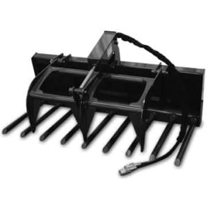 Compact Tractor Manure Fork Grapple Skid Steer Attachments