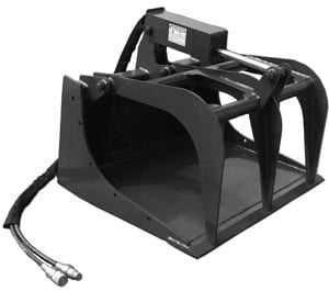 "Grapple Bucket, 44"" Skid Steer Attachments"