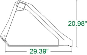 Heavy Duty Low Profile Bucket Skid Steer Attachments