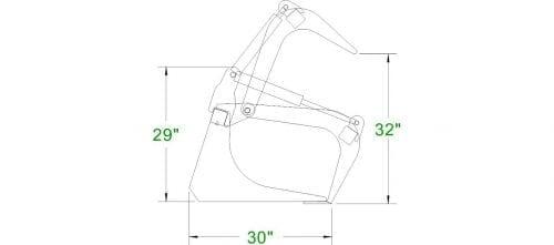 Standard Duty Grapple Bucket Skid Steer Attachments