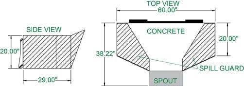 Cement-Concrete Bucket Skid Steer Attachments