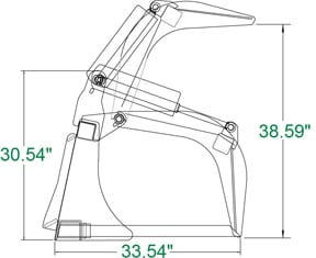 Extreme Manure Fork Grapple Skid Steer Attachments