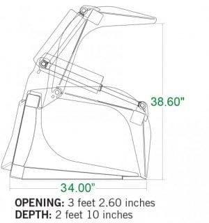 Heavy Duty Grapple Bucket Skid Steer Attachments