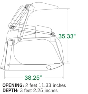 Heavy Duty Root Grapple Skid Steer Attachments