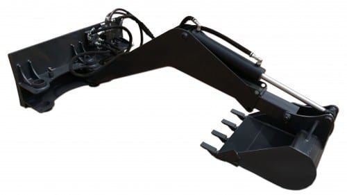 Extreme Swing Arm Backhoe Skid Steer Attachments