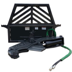 Extreme Rotating Tree Shear Skid Steer Attachments