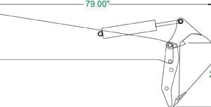 Extreme stiff arm Backhoe Skid Steer Attachments
